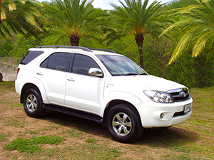 Antigua SUV rental - Toyota Fortuner
